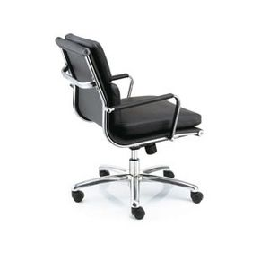Meeting Chairs Soft Black Rear View