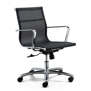 Meeting Chairs Soft Mesh Black Angle View