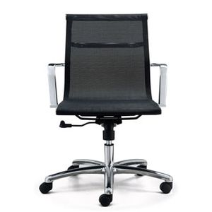 Meeting Chairs Soft Mesh Black Front View