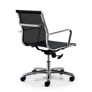 Meeting Chairs Soft Mesh Black Rear View