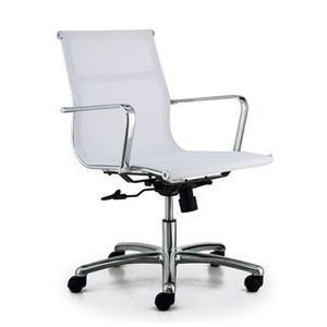 Meeting Chairs Soft Mesh White Angle View