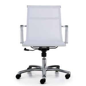 Meeting Chairs Soft Mesh White Front View