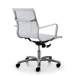 Meeting Chairs Soft Mesh White Rear View