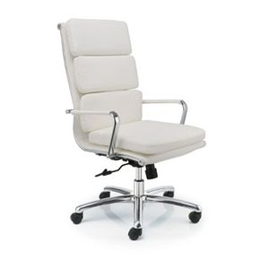 Meeting Chairs Soft White High Back Angle View