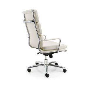 Meeting Chairs Soft White High Back Rear View