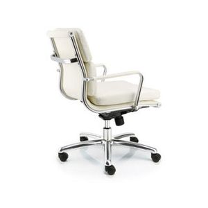 Meeting Chairs Soft White Rear View