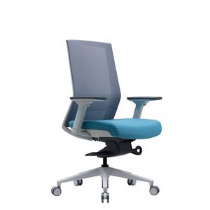 Office Chairs Bestuhl S27 White Front Angle View