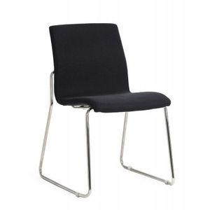 Office Chairs Design Black Sled Base Chrome