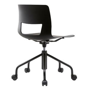 Office Chairs Fursys Button Black Angle View
