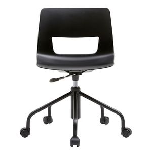 Office Chairs Fursys Button Black Front View