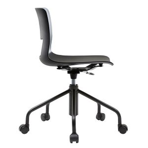 Office Chairs Fursys Button Black Side View