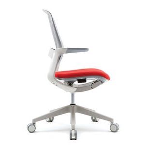 Office Chairs Fursys T25 White with Orange Seat Side View