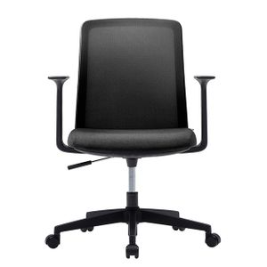 Office Chairs Fursys T40S Black Front View