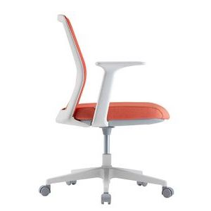 Office Chairs Fursys T40S White with Orange Seat Side View