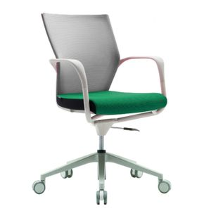 Office Chairs Fursys T503 White with Green Seat
