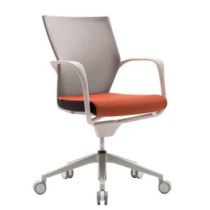 Office Chairs Fursys T503 White with Orange Seat