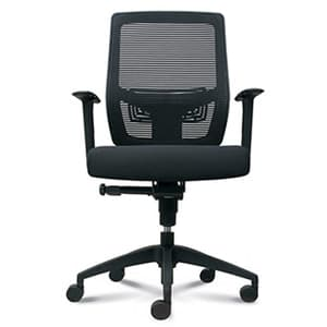 Office Chairs Ikonic with Arms Front View
