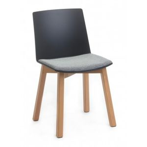 Office Chairs Jubel Black with Timber Legs