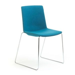 Office Chairs Jubel Blue Sled Base Chrome