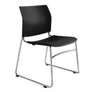 Office Chairs One Black Sled Base