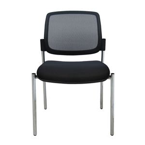 Office Chairs Titanium Mesh without Arms and Four Leg Base