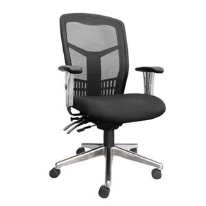 Office Chairs Tran High Back Chrome Base