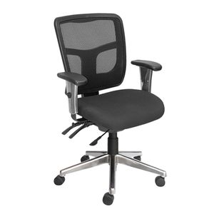 Office Chairs Tran Medium Back Chrome Base