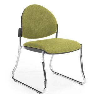 Office Chairs Venice Round Chrome Sled