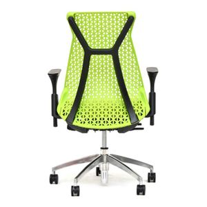 Office Chairs Xagon Black and Green Rear View