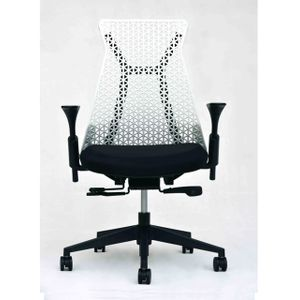 Office Chairs Xagon Black and White Front View