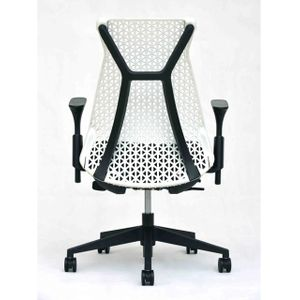 Office Chairs Xagon Black and White Rear View