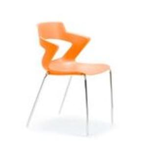 Office Chairs Zen Four Leg in Orange