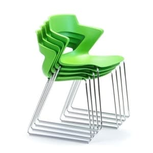 Office Chairs Zen Sled Base Stack in Green