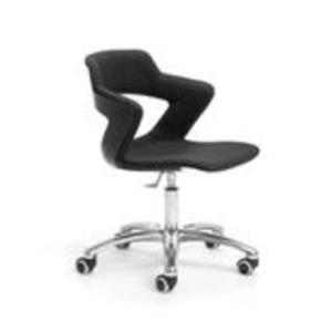 Office Chairs Zen with Castors in Black