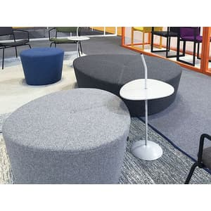 Office Seating Lotus Ottoman with Stitching