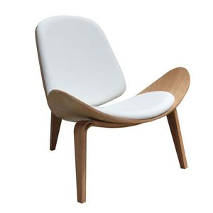 Office Seating Replica Hans Wegner Timber and White