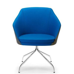 Office Seats Annette with Chrome Four Point Swivel Base