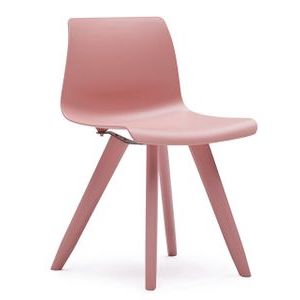 Office Seats Soda in Pink Plastic with Matching Legs
