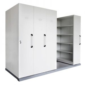 Office Storage Mobile Shelving Four Bay