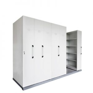 Office Storage Mobile Shelving Six Bay