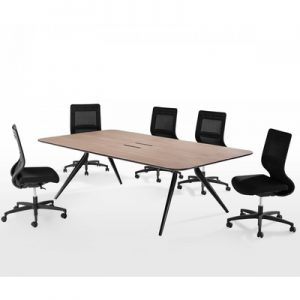 Office Furniture Meeting table EONA Black Powdercoat