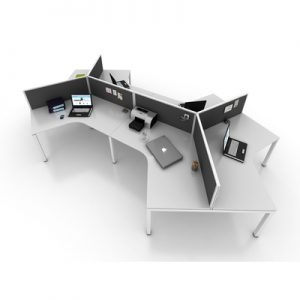 Office Workstations Cubicles Gen Y 120 Degree Pod