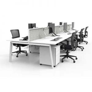 Office Workstations Delta Fixed Height 6 Person