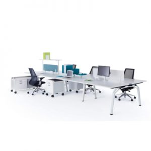 Office Workstations Fluid 6 Person