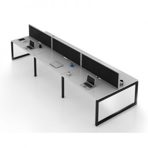 Office Workstations Gen O 6 Person Black