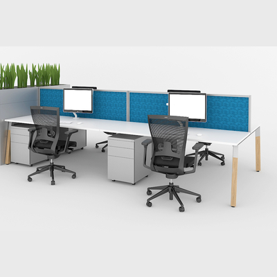 Office Workstations Sydney Delta Timber A 4 Person