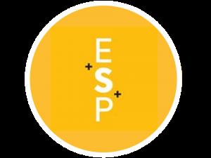 ESP Office Fitouts Circle Logo Border White